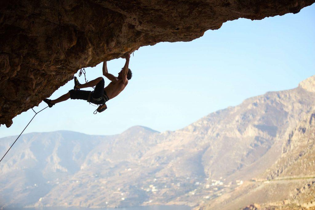 uitdaging berg beklimmer